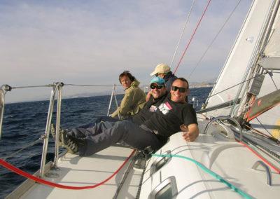 Navegando con amigos en Tabarca